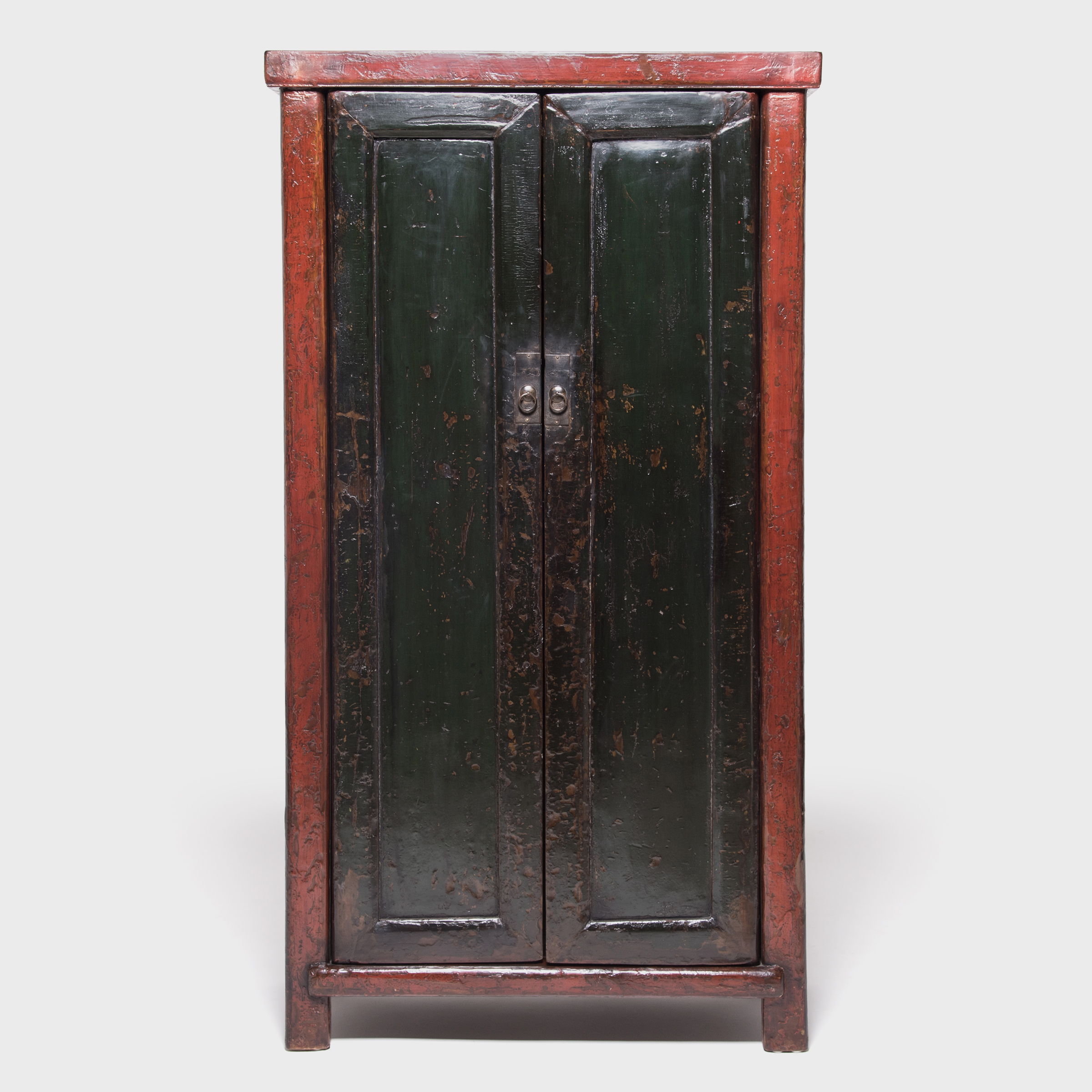 Two Door Black And Red Cabinet
